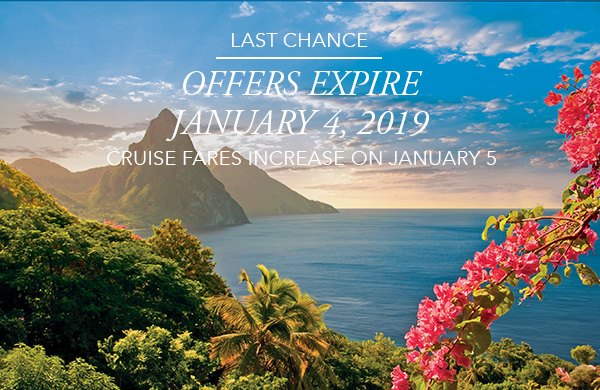 Last Chance | Offer Expires September 30, 2018 | Cruise Fares Increase on October 1