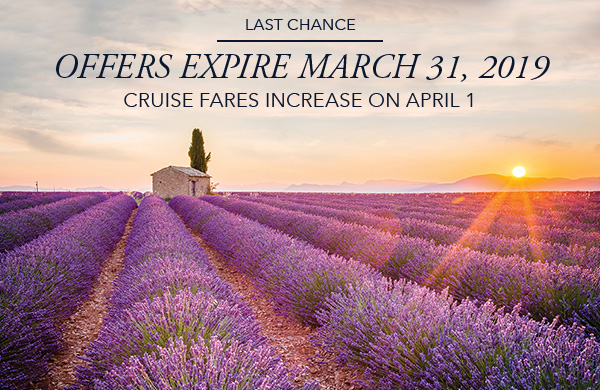 Last Chance | Offer Expires March 31, 2019 | Cruise Fares Increase on April 1